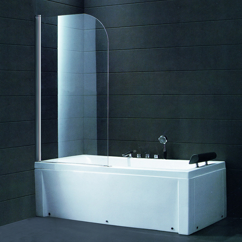 BS03 Connect Half Radius Bath Screen