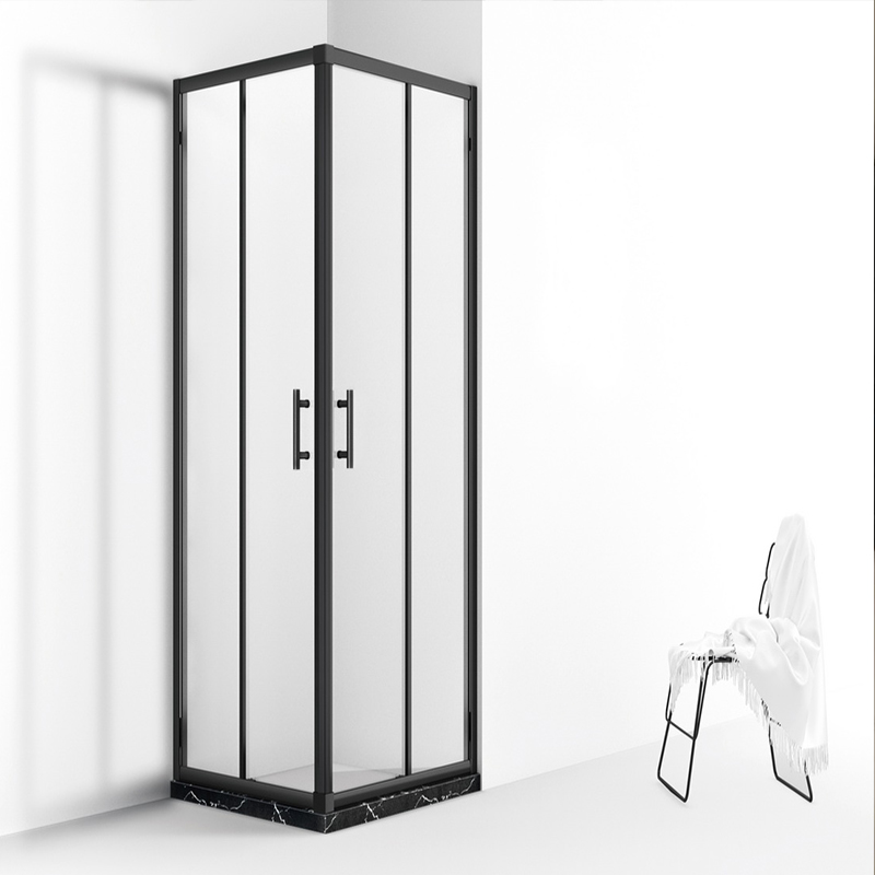 modern hinged bi-folding shower room