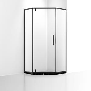 DB333 Black Rotary Shaft Shower Screen