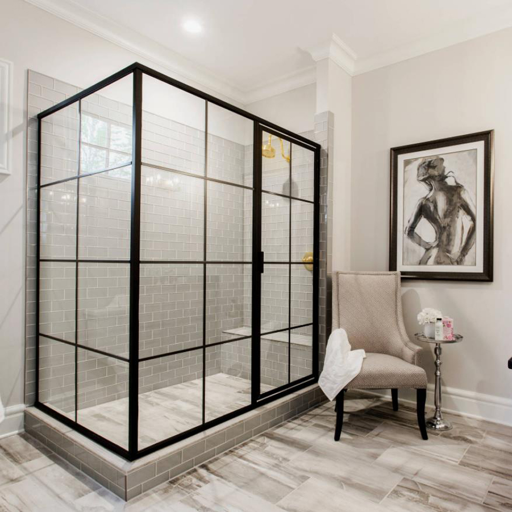 FBA533 French Corner Shower Enclosure Screen