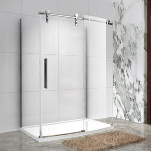SRS631 Frameless Sliding Bowfront Shower