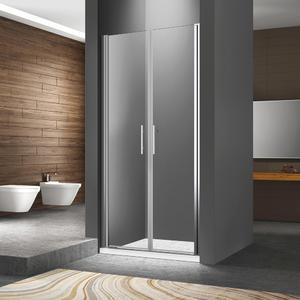 FC124 Dual Swing Semi-Frame Shower Door