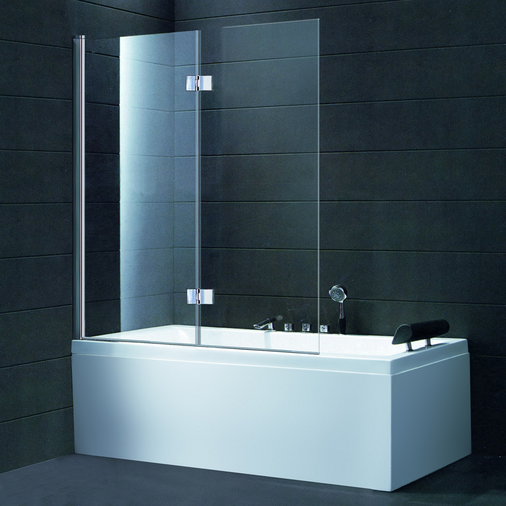 BS08 TWO PANEL FOLDING BATH SCREEN