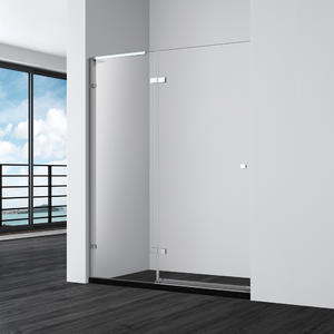 DF123-Completely Frameless Hinge Alcove Shower Door