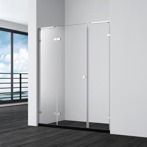 DF133 hinge shower door with 2 inline panels in recess