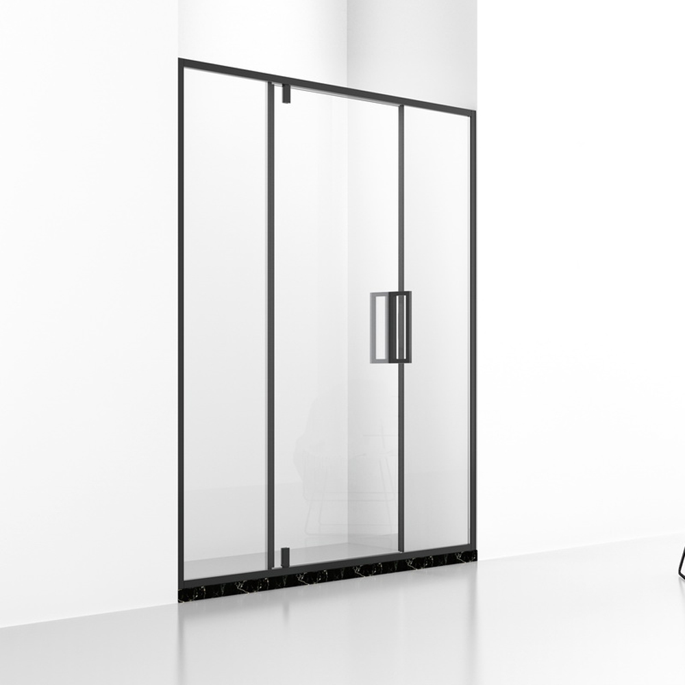DB133 SUS304 Black Frame Provit Shower Door