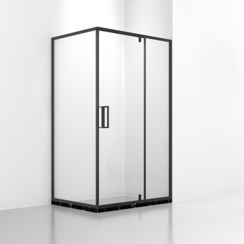 DB533 Black Corner Swing Door Shower Enclosure