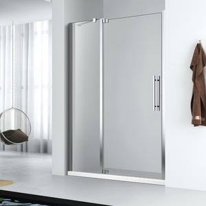 Frameless swing door hinged shower door FE123