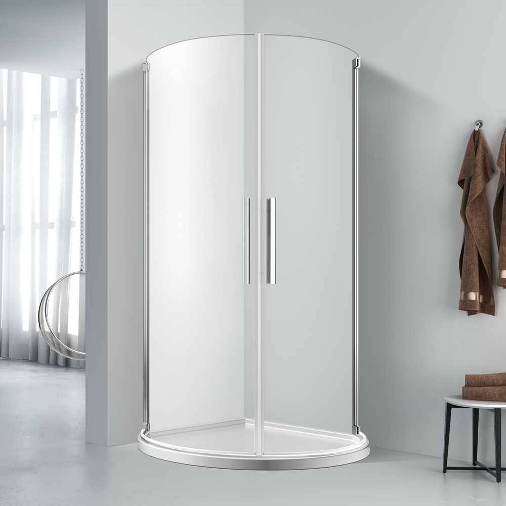 FE424  Fullarc tiwn door shower enclosure