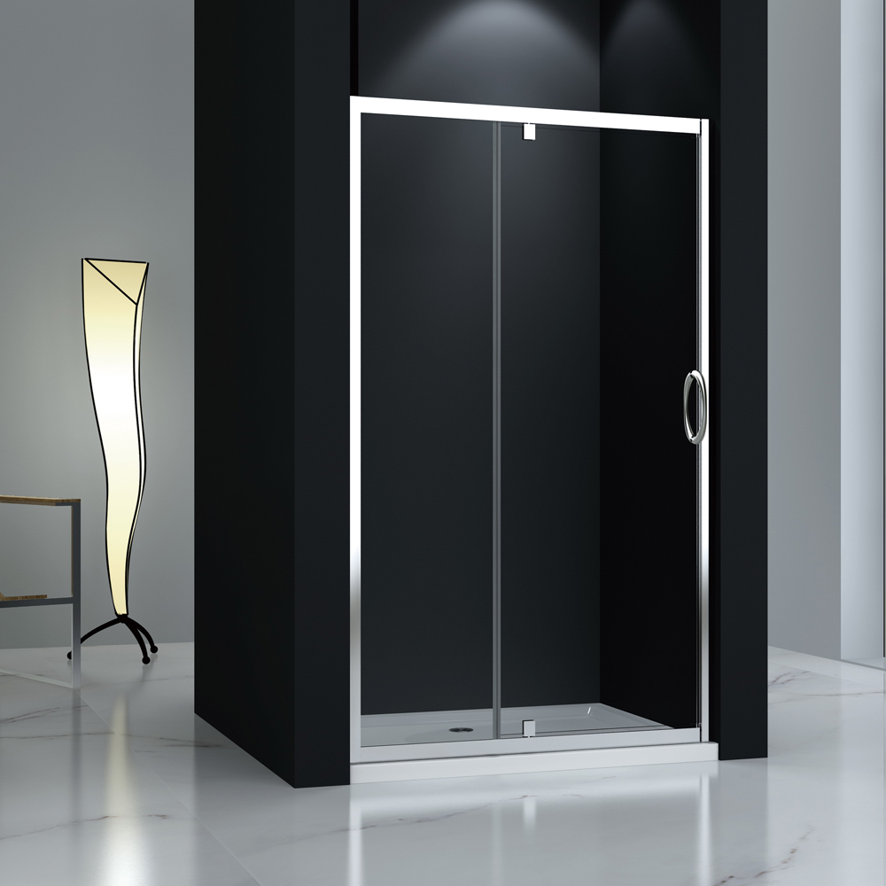 JTP123 tempered glass pivot shower door
