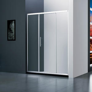 M131 sliding shower door with 2 inline panel