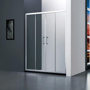 M142 twin sliding shower door