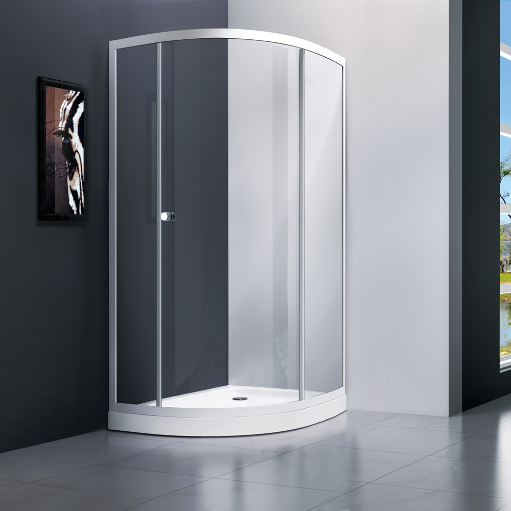 T231 single door offset quandrant shower door