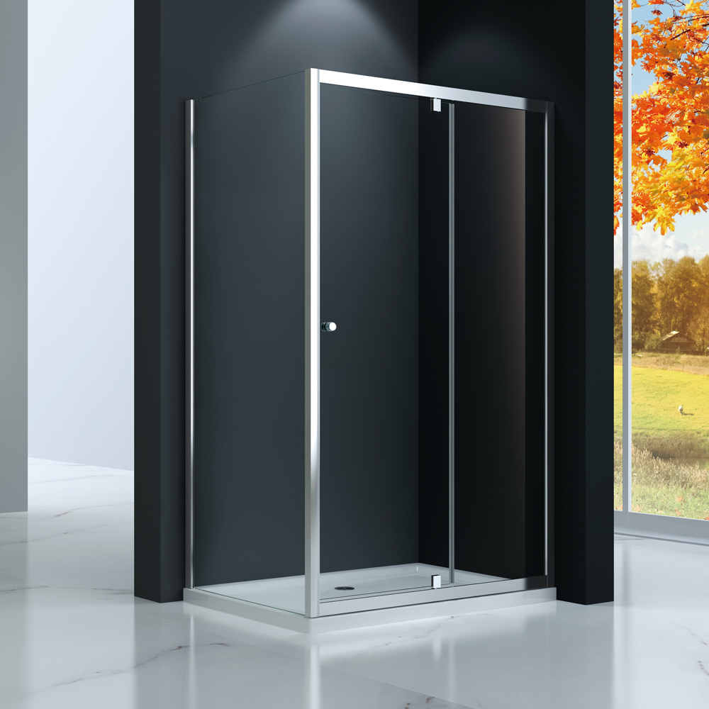TP533 Pivot swing shower door bi fold shower enclosure