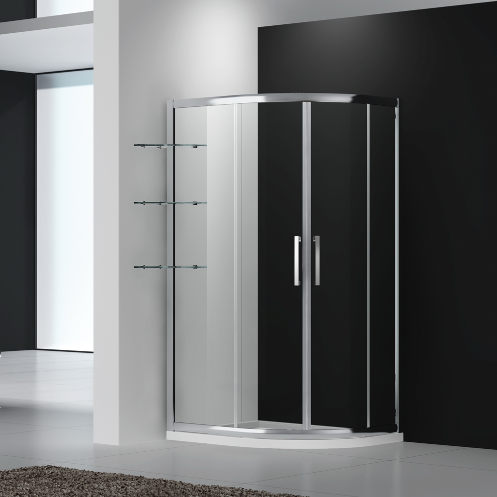 U242 Quadrant twin square shower enclosure with sliding doors