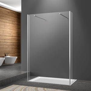 WA02 double fliper frameless walkin shower enclosure