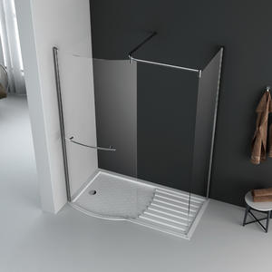 WA10 walk-in shower screen shower enclosure with side panel