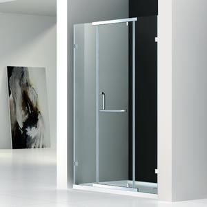 DZ133 semi-frameless pivot shower door