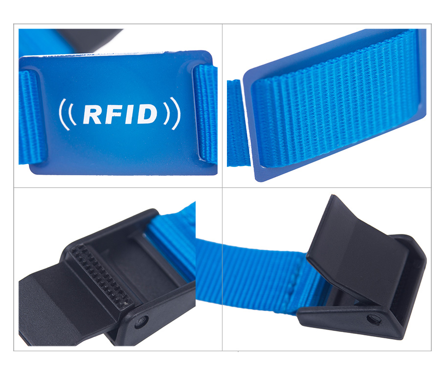 printing logo woven rfid wristbands for festival
