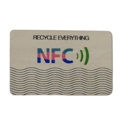 NFC Smart Wooden Card Door Lock RFID Card