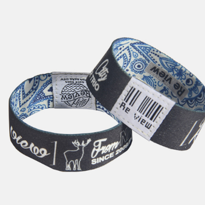 Rewritable Silicone RFID Wristband with RFID Pouch