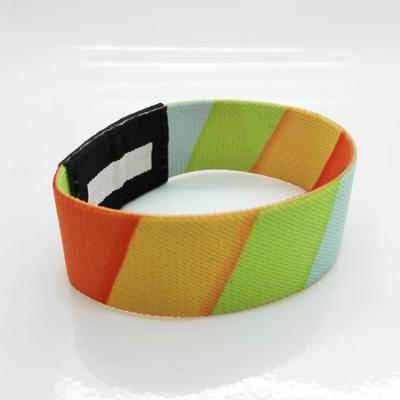 25mm Elastic Silicone RFID Wristband For Swimming Pools