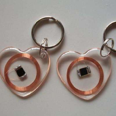 RFID Tracking Chips Heart Shape Tranparent RFID Keytags
