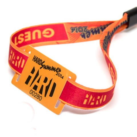 Unique QR Code Event Fabric RFID Woven Wristband