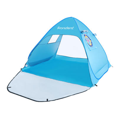 Beach Tent Super Bluecoast Beach Umbrella Outdoor Sun Shelter Cabana Automatic Pop Up UPF 50 Sun shade Portable Camping Fishing
