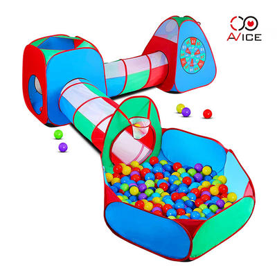 Kids Puzzle Tents with Ball pool and tunnel