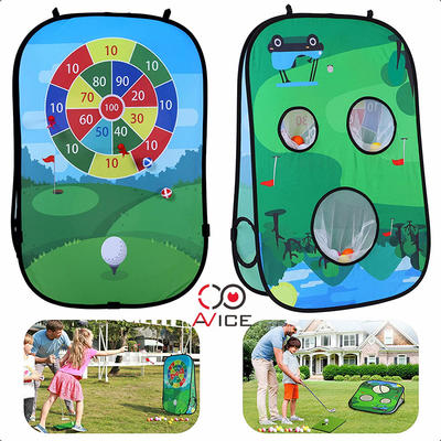 Children Golf Mat Kids Play Tents Kids Indoor Tent with Dartboard and Ocean Ball Outdoor Tents