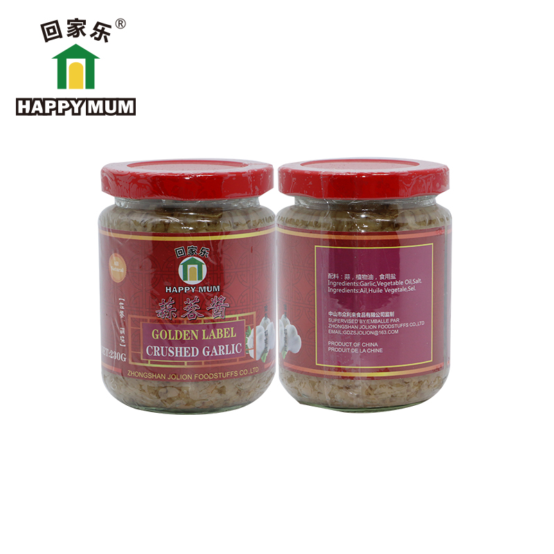 230g Crushed Garlic Oriental Cooking Sauces Jolion
