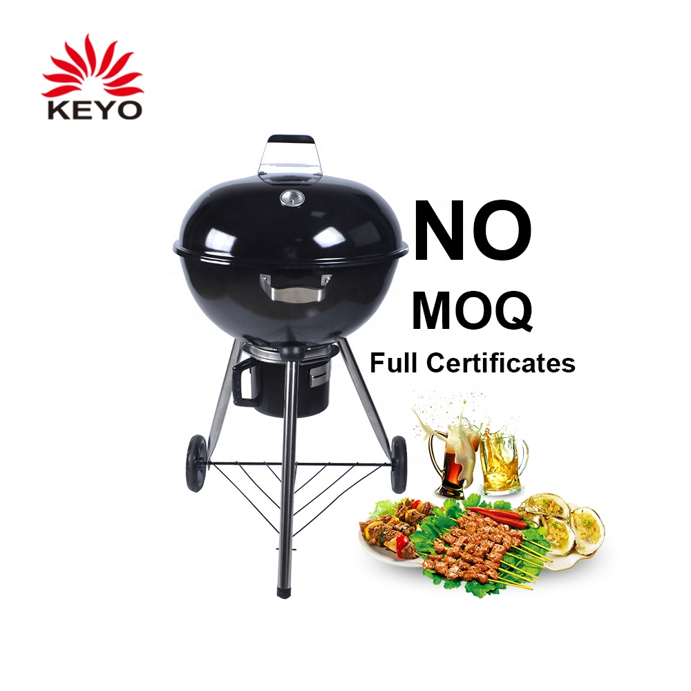 Durable Wheels Black Large Charcoal Grill BBQ Kettle Grills