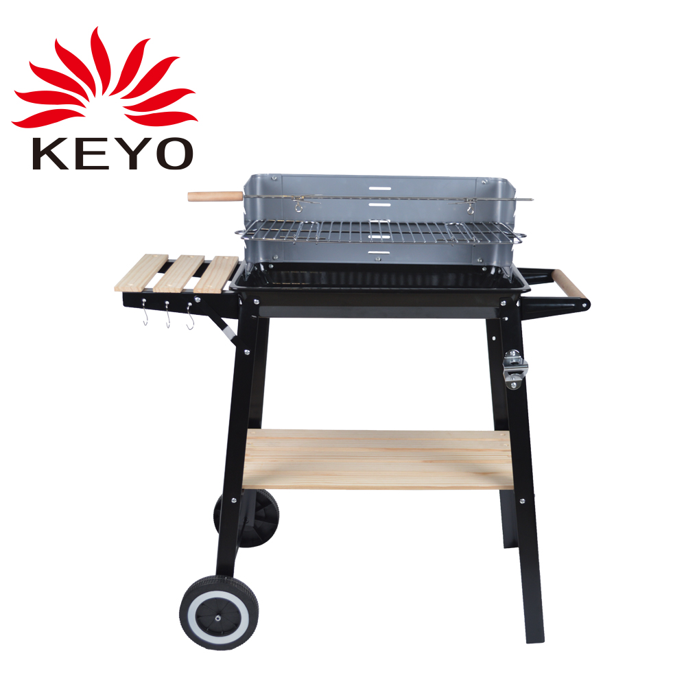 YH28020A Wood BBQ Grill