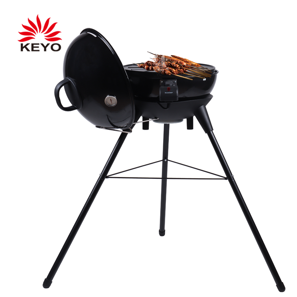 KEYO9962 20 Inch Luxury Electric Barbecue Grill 230V Outdoor Smokeless Electric Kettle BBQ Grills With CE Certification