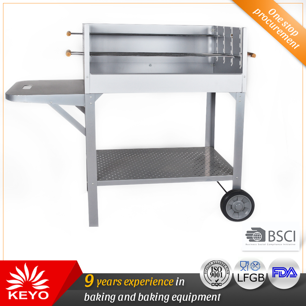 KY28030S Stainless Steel Trolley BBQ Grills