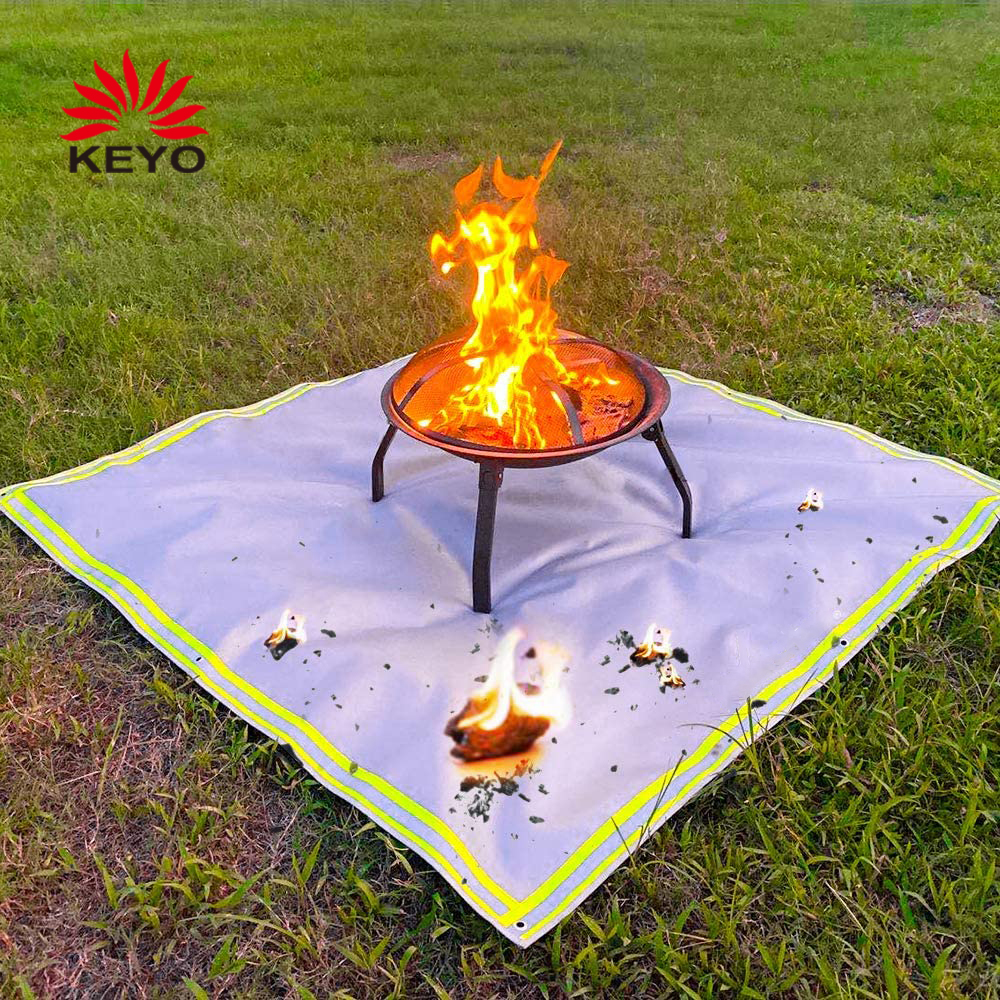 KY5959FPM Firepit Mat 59 Inch Square Outdoor Fireproof Fire Pit Mat