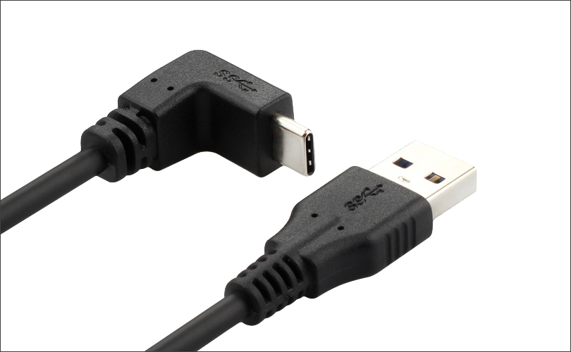 Right Angle C to A USB Cable