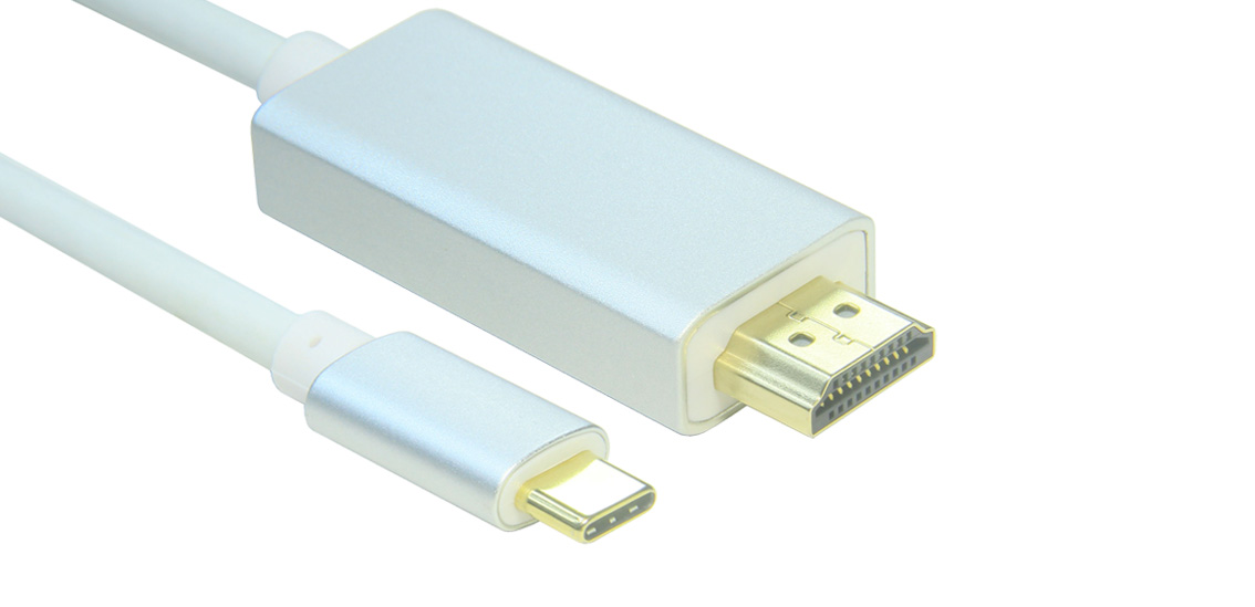 USB 3.1 Type C to HDMI 4K Aluminum Alloy Glad-plated Cable