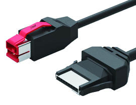24V Powered USB Printer Cable