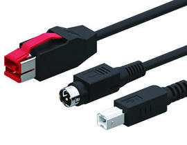 24V Powered USB to 3Pin+USB B Cable