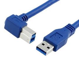 USB 3.0 Right Angle Type B Printer Cable