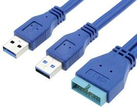 20 PIN Male to USB Male Cable