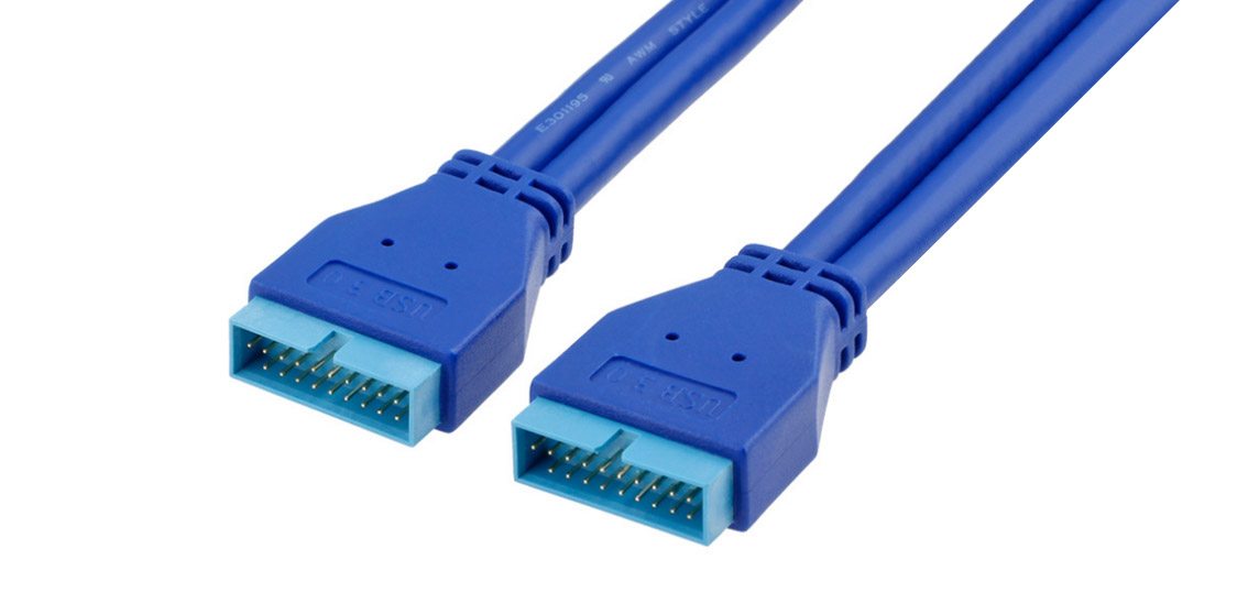 20 PIN Male to Male Extension Cable