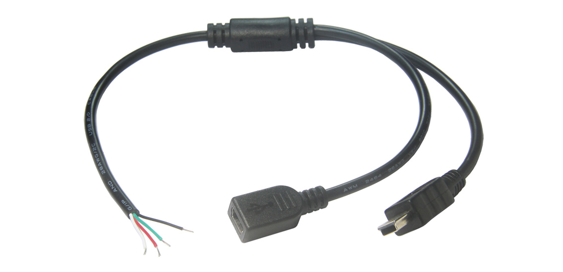 USB 2.0 Type A to Double Mini B 5Pin  2 in 1 Cable
