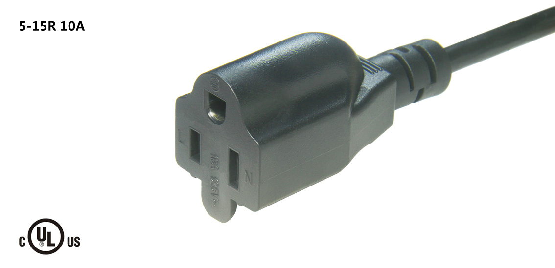 UL&CSA Approved America/Canada NEMA 5-15R Power Cord
