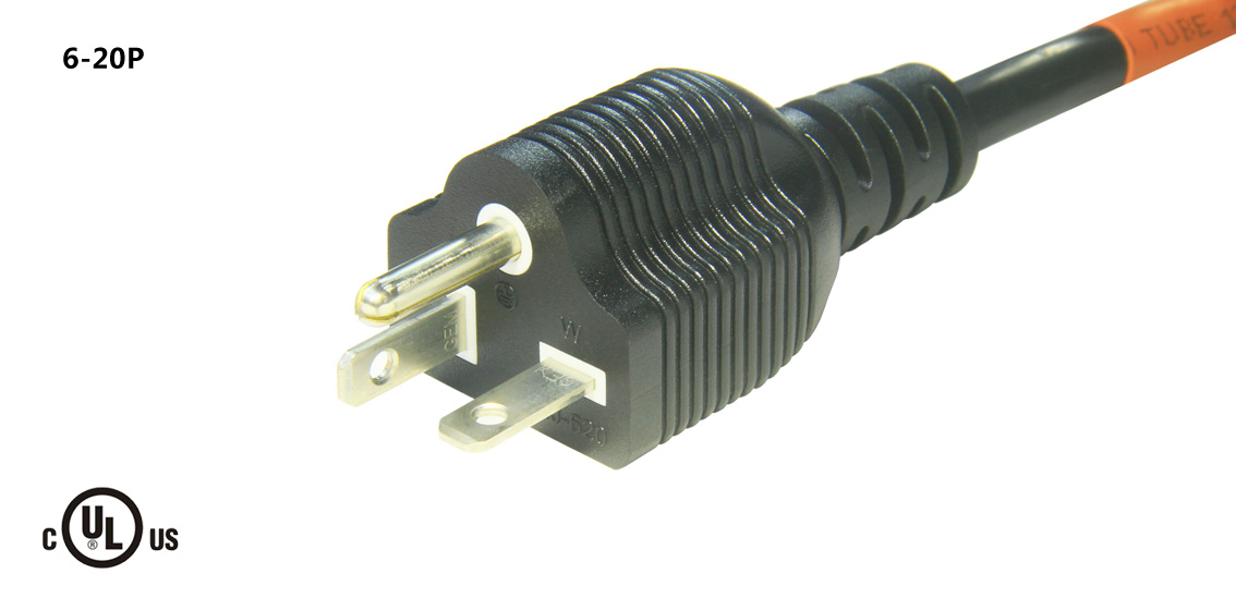 UL&CSA Approved America/Canada NEMA 6-20P Power Cord