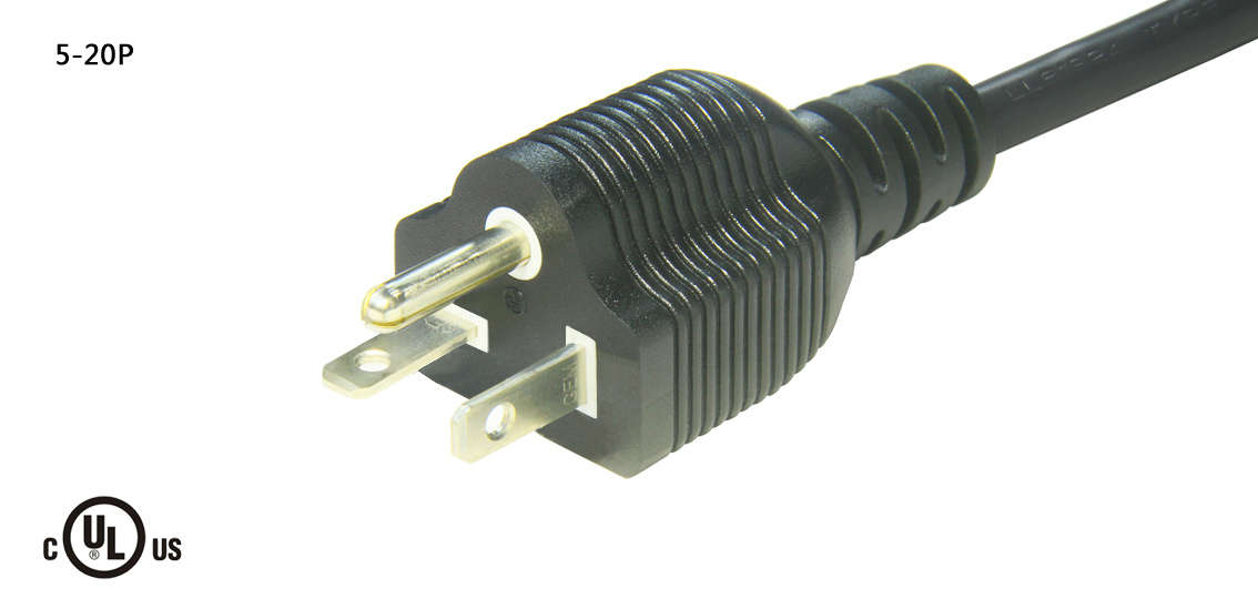 UL&CSA Approved America/Canada NEMA 5-20P Power Cord
