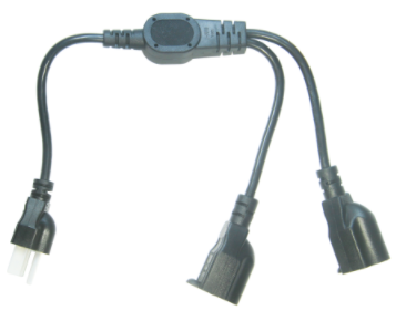 UL&CSA Approved America/Canada 2 in 1 Power Cord