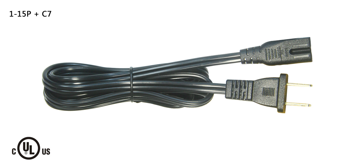 UL&CSA Approved America/Canada IEC C7 Power Cord